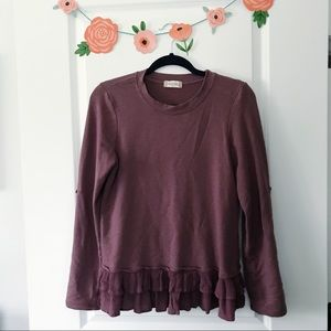 Altar'd State Tops - Altar'd State Sweatshirt with Ruffles S